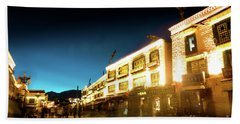 Kora At Night At Jokhang Temple Lhasa Tibet Yantra.lv Beach Towel