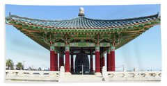 Korean Friendship Bell In Los Angeles Beach Towel