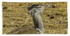 Kori Bustard On The Serengeti Beach Sheet