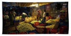Beach Sheet featuring the photograph Koyambedu Chennai Flower Market Predawn by Mike Reid