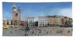 Krakow, Town Square Beach Towel