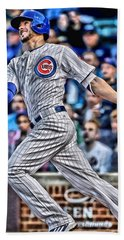Kris Bryant Chicago Cubs Beach Towel by Joe Hamilton