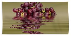 Krissy Gold Grapes To Wine Beach Towel by David French