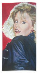 Beach Towel featuring the painting Kristi Sommers by Bryan Bustard
