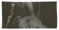 Kroki-2015-04-11-figure-drawing-white-chalk-marica-ohlsson-marica-ohlsson Beach Towel