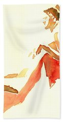 Kroki 2015 03 28_29 Maalarhelg 4 Akvarell Watercolor Figure Drawing Beach Towel