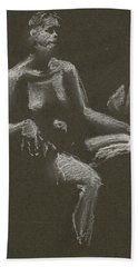 Kroki 2015 04 25 _3 Figure Drawing White Chalk Beskuren Beach Towel