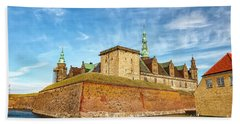 Beach Towel featuring the photograph Kronborgsslott In Helsingor by Antony McAulay