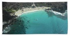 Kua Bay Aerial Beach Towel