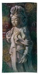 Kuan Yin Dragon Beach Towel