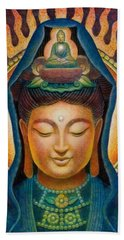 Kuan Yin Flame Beach Towel