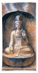 Kuan Yin Meditating Beach Sheet