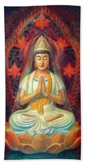 Kuan Yin's Prayer Beach Towel