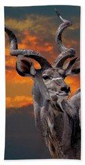 Kudu At Sunset Beach Towel