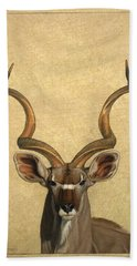 Beach Towel featuring the painting Kudu by James W Johnson