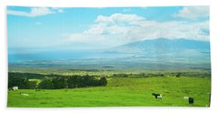 Kula Upcountry Maui Hawaii Beach Towel by Sharon Mau