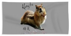 Kung Fu Chipmunk Beach Towel