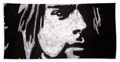Kurt Kobain Beach Towel