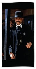 Kurt Russell As Wyatt Earp Tombstone Arizona 1993-2015 Beach Sheet by David Lee Guss