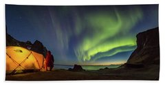 Kvalvika Under The Lights Beach Towel