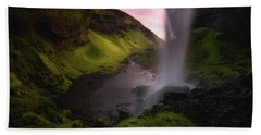 Kvernufoss Beach Towel