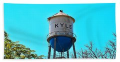 Kyle Texas Water Tower Beach Towel by Ray Shrewsberry