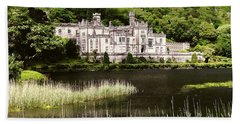 Kylemore Abbey Victorian Ireland Beach Sheet