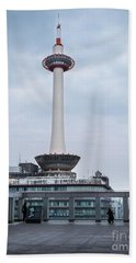Kyoto Tower, Japan Beach Towel