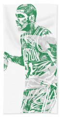 Kyrie Irving Boston Celtics Pixel Art 40 Beach Towel