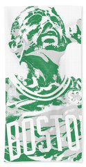 Kyrie Irving Boston Celtics Pixel Art 41 Beach Towel