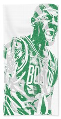 Kyrie Irving Boston Celtics Pixel Art 42 Beach Towel