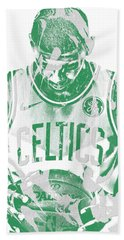 Kyrie Irving Boston Celtics Pixel Art 5 Beach Towel