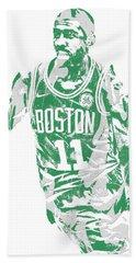 Kyrie Irving Boston Celtics Pixel Art 6 Beach Towel