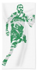 Kyrie Irving Boston Celtics Pixel Art 60 Beach Towel
