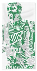 Kyrie Irving Boston Celtics Pixel Art 7 Beach Towel