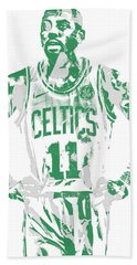Kyrie Irving Boston Celtics Pixel Art 8 Beach Towel
