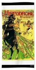L Hippodrome 1905 Parisian Art Nouveau Poster II Manuel Orazi 1905 Beach Sheet