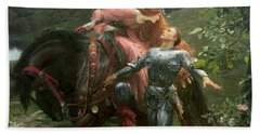 La Belle Dame Sans Merci Beach Towel by Sir Frank Dicksee