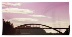 Beach Sheet featuring the photograph La Conner Rainbow Bridge-  By Linda Woods by Linda Woods