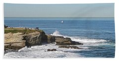 La Jolla Coves Beach Sheet by Carol Bradley