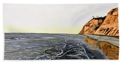Beach Towel featuring the painting La Jolla Shoreline by Kevin Daly