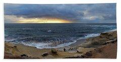 La Jolla Shores Beach Panorama Beach Towel
