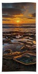 La Jolla Tidepools Beach Towel by Peter Tellone
