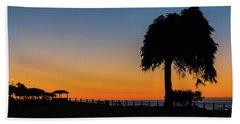 La Jolla Tree Silhouette Img 3 Beach Towel