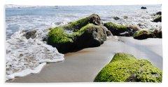 Beach Sheet featuring the photograph La Piedra Shore Malibu by Kyle Hanson