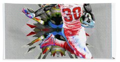La Rams Paint Todd Gurley 5b Beach Sheet