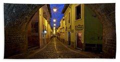 La Ronda Calle In Old Town Quito, Ecuador Beach Sheet by Sam Antonio Photography