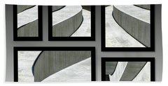Beach Towel featuring the photograph La Stairs Collage 01a by Ausra Huntington nee Paulauskaite