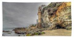 La Tour By The Sea Beach Towel