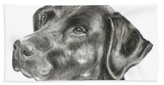 Lab Charcoal Drawing Beach Sheet